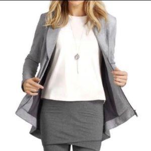CAbi Drop Off Grey Pinstripe Jacket